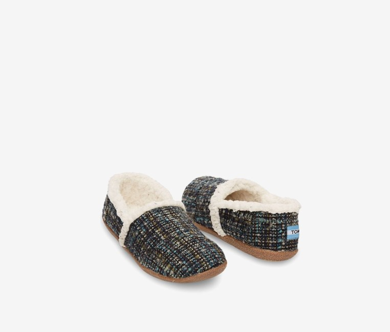 Women's Slipper Blue Boucle