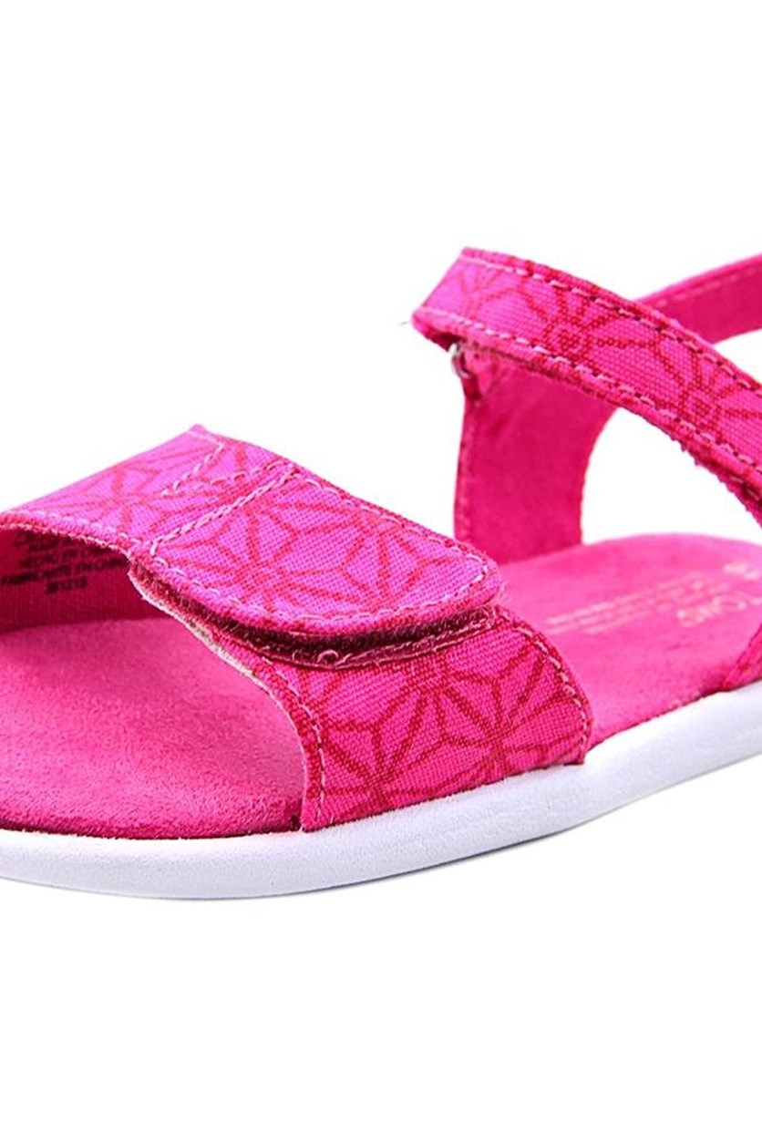 Toms Toddler Tiny Strappy Sandals, Pink Canvas