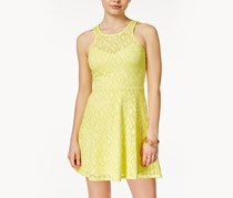 Material Girl Juniors Crochet-Knit Dress, Limelight