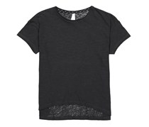 Lefties Kids Girl's Polka Dots Neckline Tee, Black