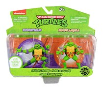 Teenage Mutant Ninja Turtles Figurines, Violet/Orange