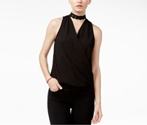 BCX Juniors Wrap Top, Black