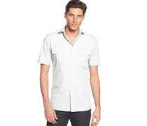Alfani Big and Tall Short Sleeve Shirt, Bright White