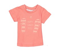Lefties Little Girls Happy Sandy Toes Graphic Tee, Coral