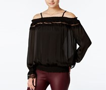 Bcx Juniors' Off-The-Shoulder Blouse, Black