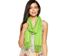 INC Satin Pashmina Wrap, Light Green