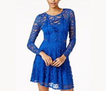 Material Girl Juniors Lace Fit Flare Dress, Surf the Web