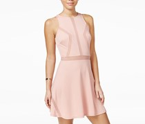 Material Girl Juniors Illusion Fit & Flare Dress, Blush