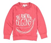 Lefties Graphic Printed Sweater, Red
