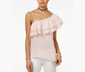 Seven Sisters Juniors One-Shoulder Top, Blush
