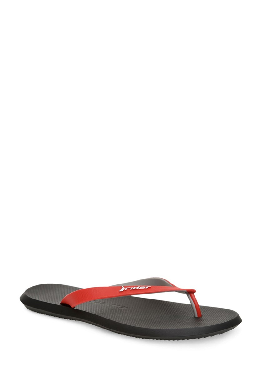 Men's R1 Ad Flips Flops, Black/Red/Grey