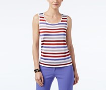 Anne Klein Striped Tank Top, Burnt Siena Combo