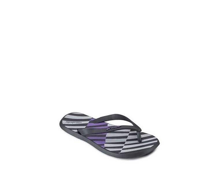 Men's R1 Ink Flip Flops, Black/Purple