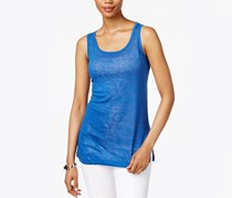 Anne Klein Linen Tank Top, Mariner