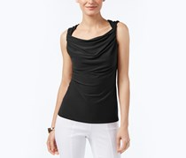 Anne Klein Sleeveless Draped Twist Top, Black