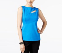 Anne Klein Cutout Compression Top, Bizet Blue