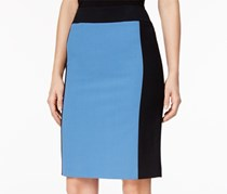 Nine West Colorblocked Pencil Skirt, Blue/Black