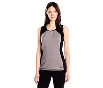 Anne Klein Women's Collection Tech Jersey Tank, Grey/Black