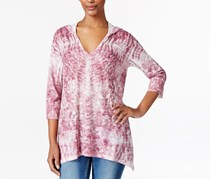 Style & Co. Petite Sublimated-Print Hoodie, Pale Raspberry