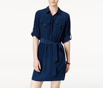 Bcx Juniors' Utility Pocket Shirt Dress, Navy
