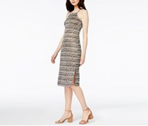 Bar III Marled Knit Dress, Dusty Olive Combo