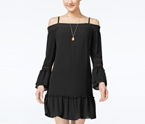 BCX Juniors Off-The-Shoulder Ruffled Dress, Black