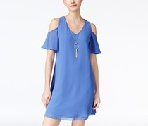 BCX Juniors Cold-Shoulder Dress, Periwinkle