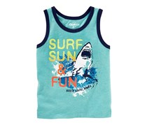 Osh Kosh Toddlers Boys Surf Sun & Fun Tank Tee, Green