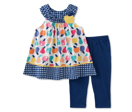 ccd4b276450 Shop Kids Headquarters Kids Headquarters 2 Pieces Fruit-Print Tunic & Capri  Leggings Set, Combo for Toddlers & Babies in United Arab Emirates - Brands  For ...