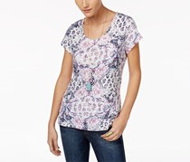 Style & Co Cotton Printed T-Shirt, French Orchid