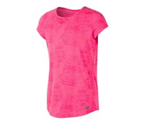 New Balance Kids Girls Short Sleeve Performance Tee, Neon Pink
