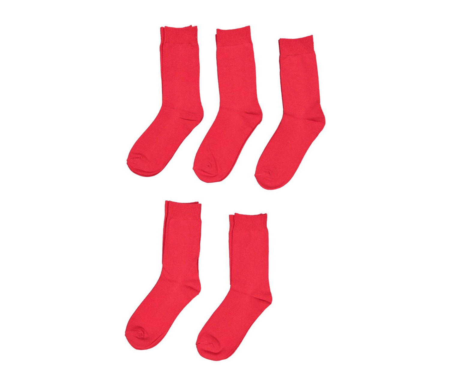 Lefties Girl 5 Pack Socks, Red