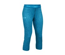 Under Armour Big Girls Mixed-Stripes Armour Capri Leggings, Blue