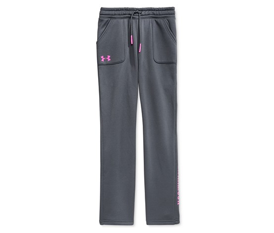 Under Armour Storm Fleece Training Pants Stealth, Grey/Pink