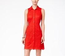 Ronni Nicole Sleeveless Lace Shirtdress, Red