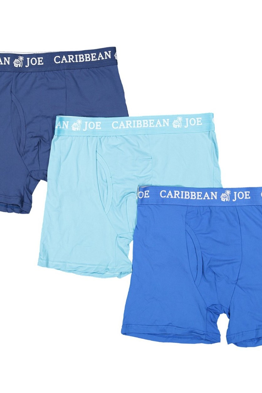 Island Supply Co. 3 Pack Mens Boxer Briefs, Blue