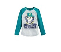 Epic Threads Little Boys Monkey Raglan Tee,Shaded Spruce