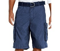 Levi's Navy Chambray Snap Cargo Shorts, Navy