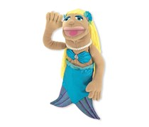 Melissa & Doug Mermaid Puppet, Tan/Yellow/Turquoise