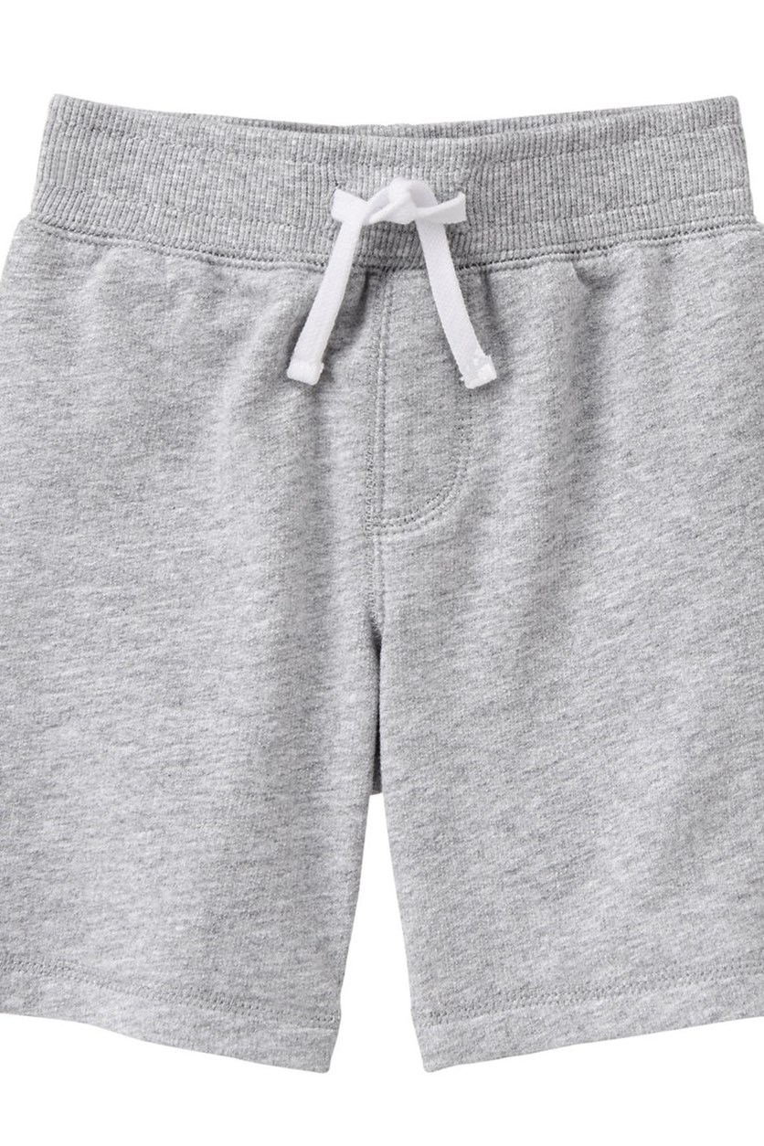 Toddlers Pull-On Shorts, Heather Grey