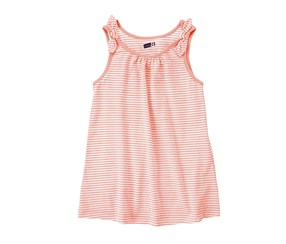 Crazy Girls Stripe Tank Top, Neon Orange
