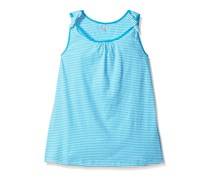 Crazy Girls Stripe Tank Top,Turquoise