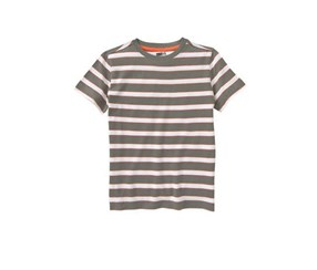 Crazy 8 Boy's Stripe Tee,Slate