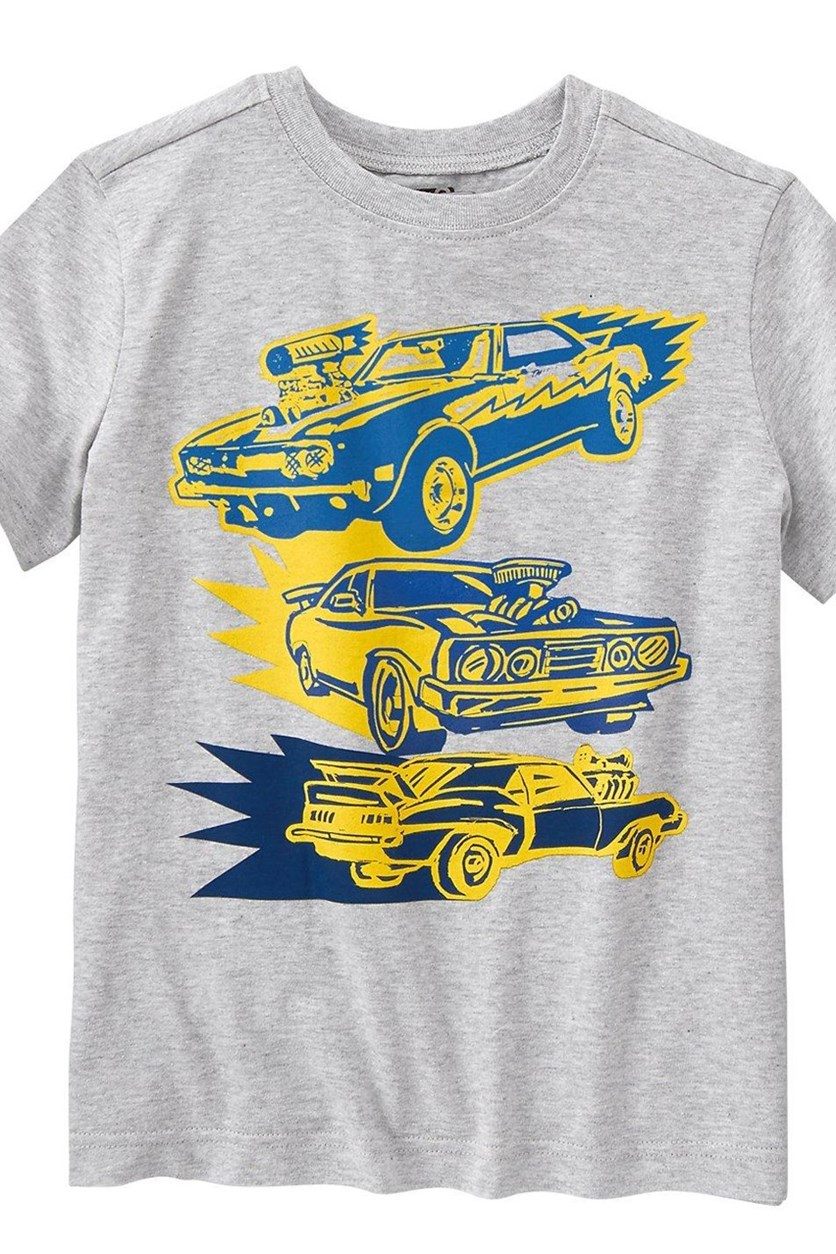 Boys Muscle Car Tee, Heather Grey