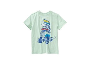 Crazy 8 Little Boys Monster Surf Tee, Mint