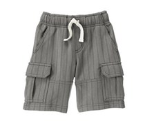 Toddler Boys Striped Cargo Shorts, Hammerhead Grey