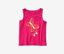 Crazy 8 Baby Girls Butterfly Tank Top, Raspberry