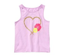 Crazy 8 Toddlers Sparkle Heart Tank, Lavender