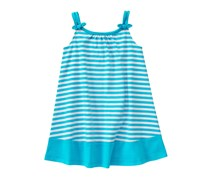 Crazy 8 Baby Girls Stripe Dress, Turquoise