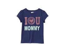 Crazy 8 Toddlers I Love U Mommy Tee, Navy